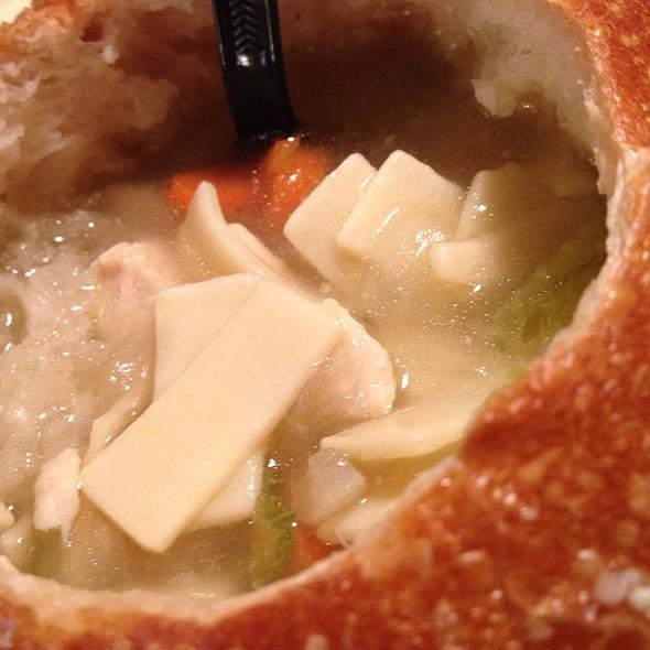Panera Chicken Noodle Soup Bread Bowl