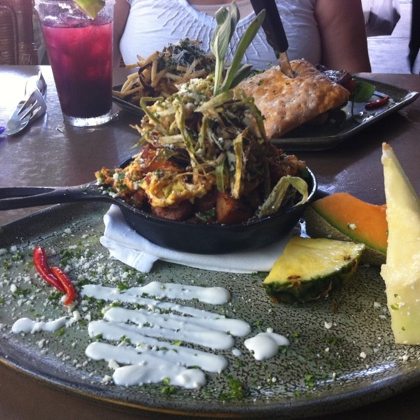 Chorizo Hash and Scrambled Eggs with White Truffle Butter @ Indigo Grill