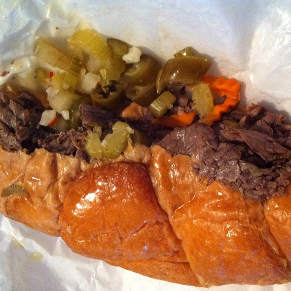 Cheesy Beef Crossaint @ Portillo's