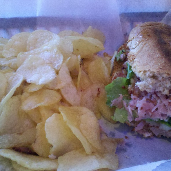 Ham sandwich and chips @ The Pizza Joint