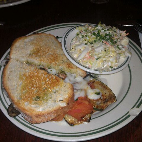 Grilled Veggie Sandwich + Slaw @ Nickel Diner