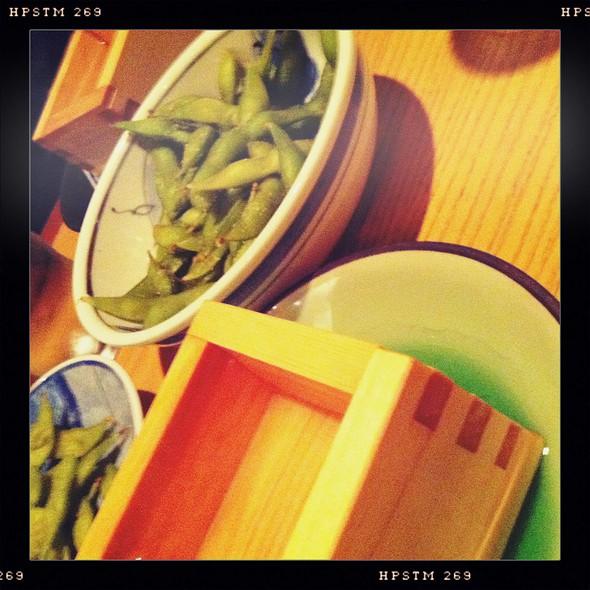 Edamame And Sake @ Takahachi Restaurant