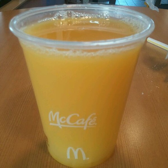 Orange Juice @ McDonalds