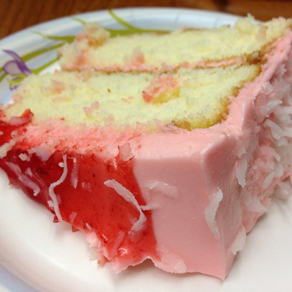 Raspberry And Coconut Cake Slice @ SAFEWAY