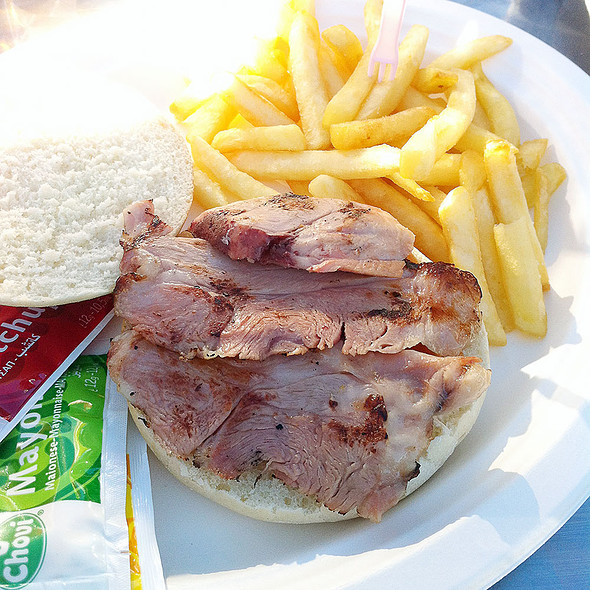 Ham hock sandwich
