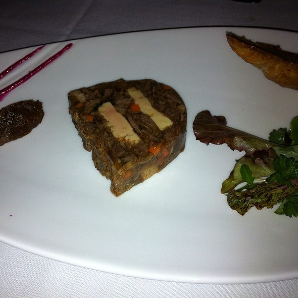 Pressed Beef Shank With Duck Foie Gras And Mesclum Salad