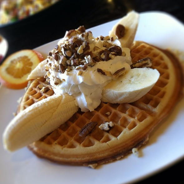 Banana Pecan Waffle @ The Prolific Oven