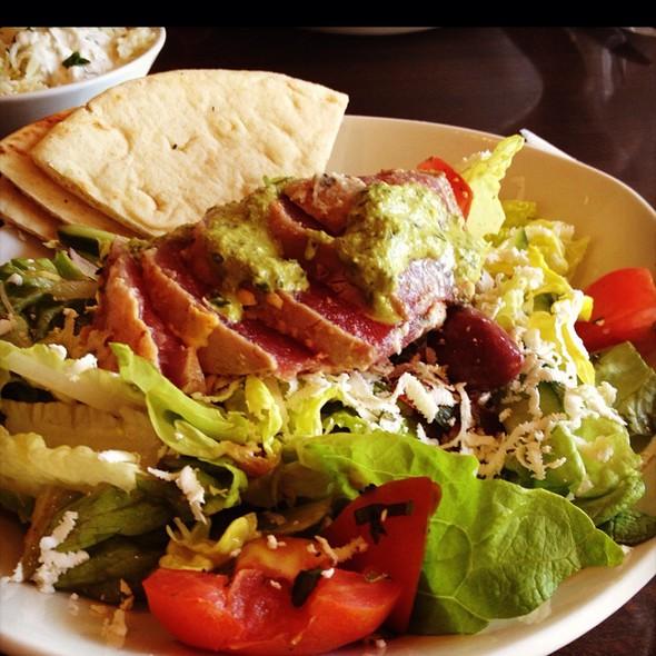 Mediterranean Salad With Ahi Tuna @ Olive Pit Mediterranean Grill