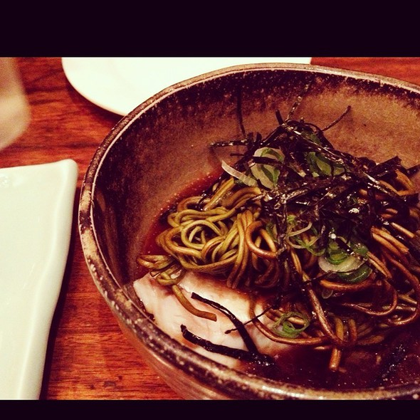 Soba With Steamed Whitefish @ Restaurant Eiji