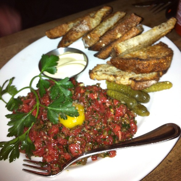 Steak Tartare With Quail Egg @ Gilt Bar