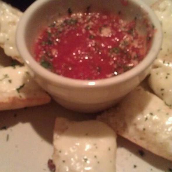 Garlic Cheese Bread & Red Gravy @ Slice Pizzeria