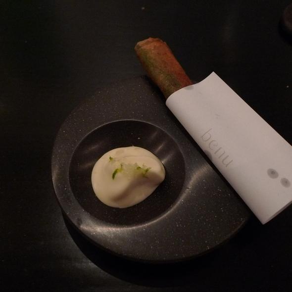 Eel, Feuille de Brick, Avocado, Creme Fraiche @ Benu