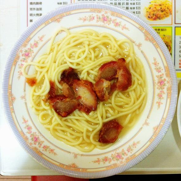BBQ Pork with Spaghetti 叉燒意粉