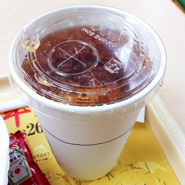 Iced Lemon Tea @ MOS Burger