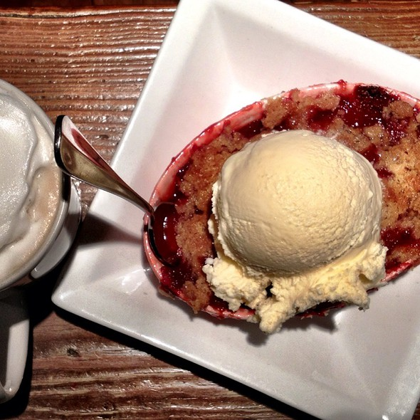 Strawberry & Blood Red Orange Cobbler With Vanilla Ice Cream @ Main Cup