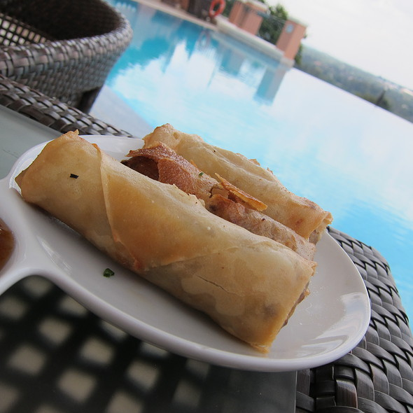 Ostrich Spring Rolls @ The Westcliff Polo Bar
