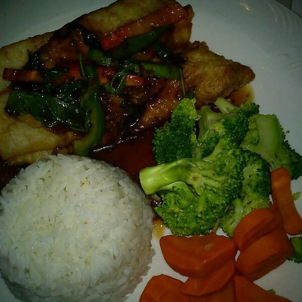 Tilapia With Thai Chili Sauce And Jasmine Rice @ Siri's Chef's Secret Restaurant