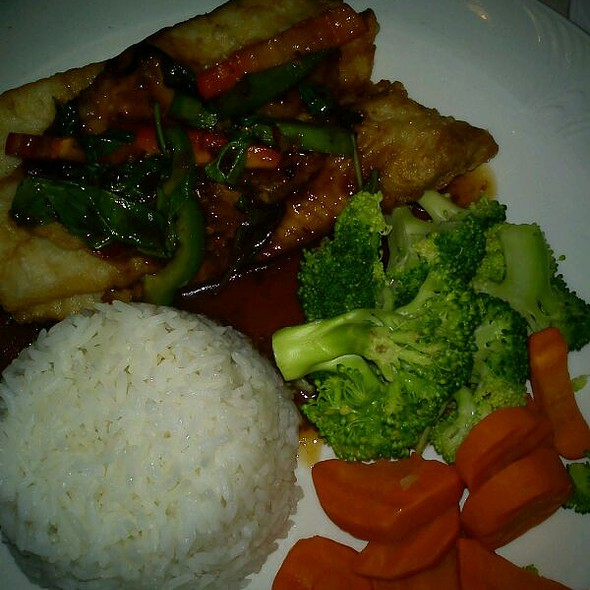 Tilapia With Thai Chili Sauce And Jasmine Rice @ Siri's Chef's Secret Restaurant