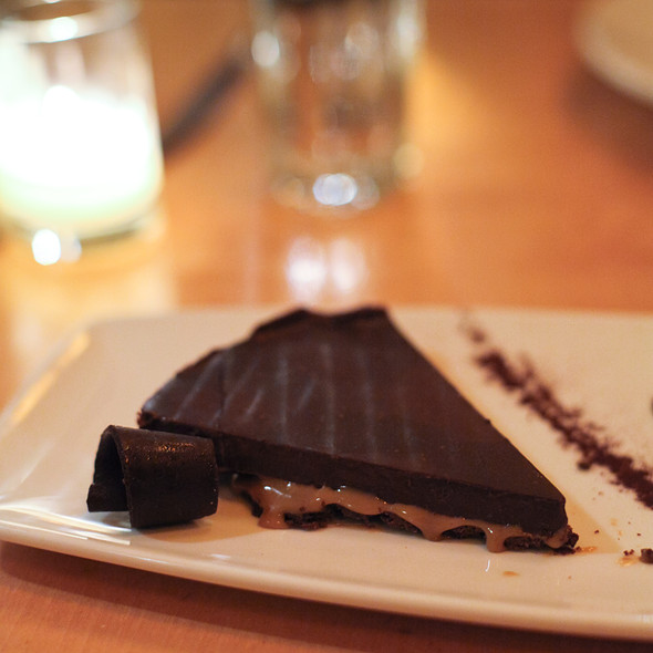 Salted Caramel Chocolate Ganache Tart @ Papa Haydn