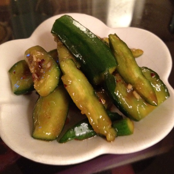 Schezwan Cucumbers @ Maki's
