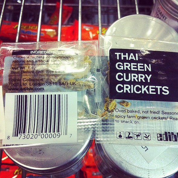 thai green curry crickets