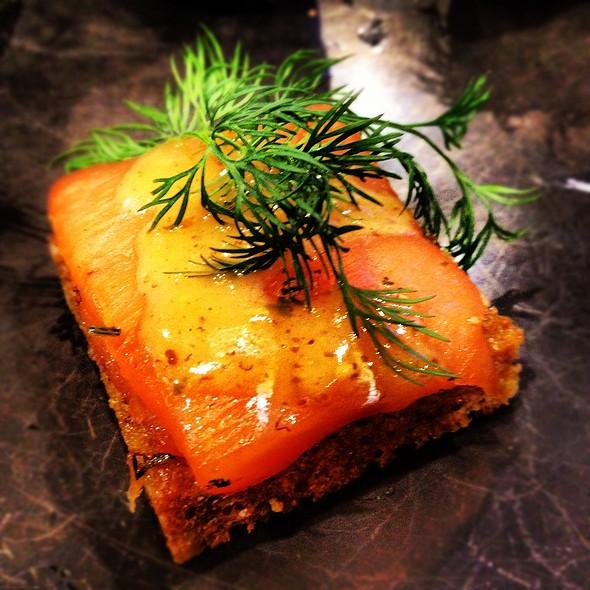 Gravlax Canapé @ Andersson Food &  Akvavit