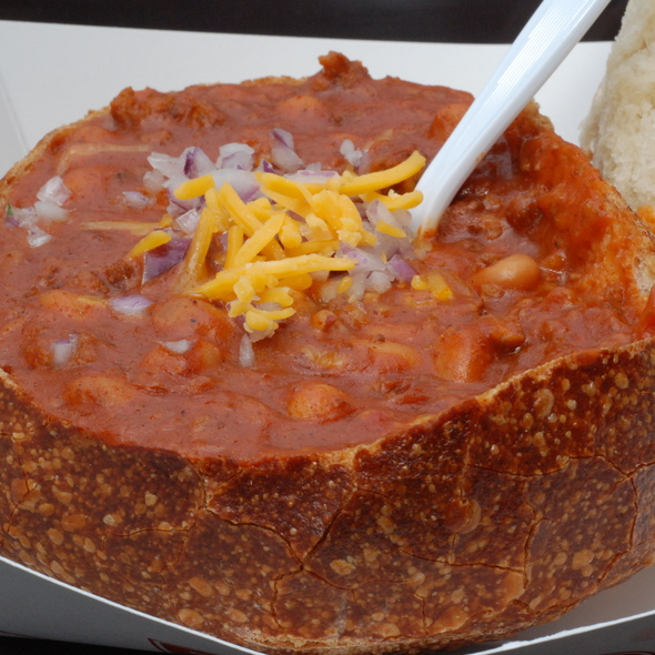 Bread Bowl Chili @ Boudin Sourdough Bakery & Cafe