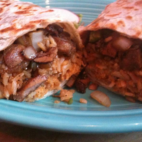 Sisig Burrito @ Papalote II Mexican Grill