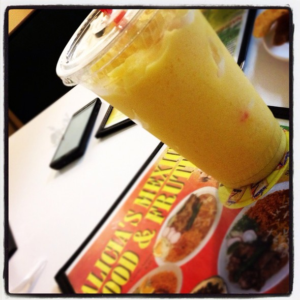Mango Smoothie @ Alicia's Mexican Food & Fruteria