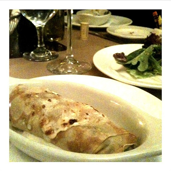 Fresh Spinach And Goat Cheese Crepe - Cafe Un Deux Trois, New York, NY