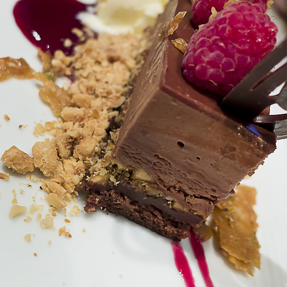 Chocolate Marquise, Milk Chocolate Torte With Hazelnut Praline Crunch @ Kris Bistro & Wine Lounge
