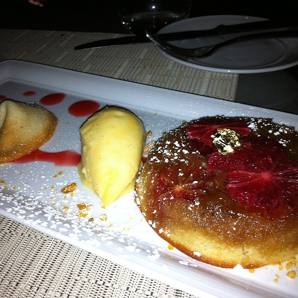 Blood Orange Sticky Cake @ Five-Sixty