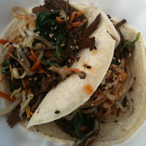 Korean Short Rib Tacos at Roaming Dragon