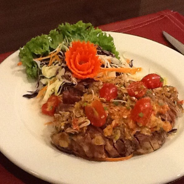 Grilled Medium Rib Eye With Spicy Thai Dressing @ Amigos Restaurant