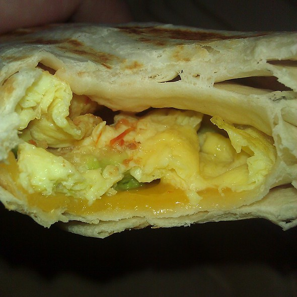 vegetarian breakfast burrito @ Toaster's