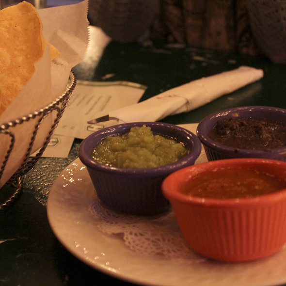Red salsa, green salsa, and bean dip - H Street Country Club, Washington, DC