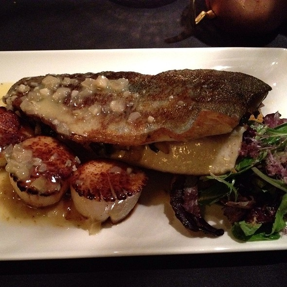 Stuffed Rainbow Trout With Scallops And Potatoes - SideBar Columbus, Columbus, OH