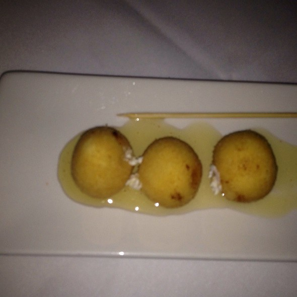 Fried Goat Cheese With Lavendar Infused Honey @ Alta Restaurant