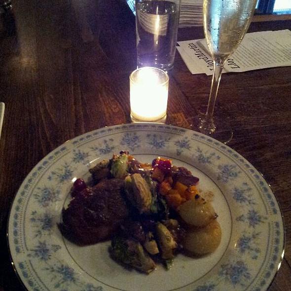 Braised Pork With Cranberry, Chestnut, Brussel Sprouts and Pumpkin @ LloydMartin