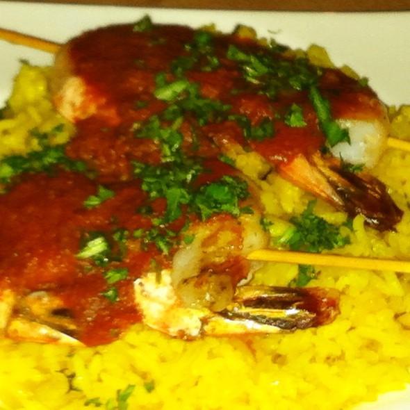 Shrimp Kabobs - Kous Kous Moroccan Bistro, San Diego, CA