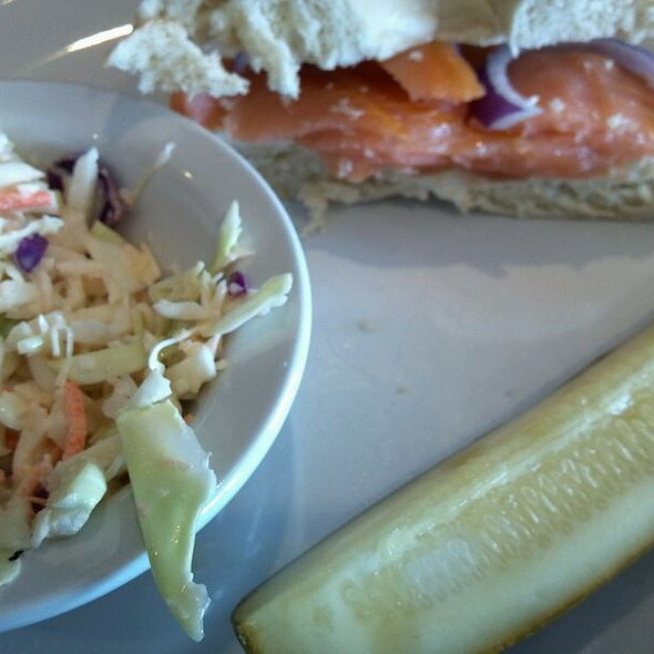 Bagel with Lox and Cream Cheese @ River City Deli