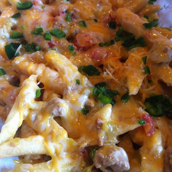 Green Cheese Chili Fries @ The Retro Room Salon and Lounge