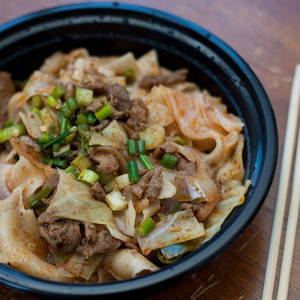 Spicy Cumin Lamb Hand-Ripped Noodles @ Xi'an Famous Foods