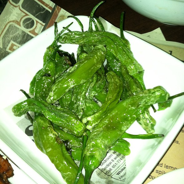 Fried Shishito Peppers w/olive Oil & sea Salt @ Moto-i