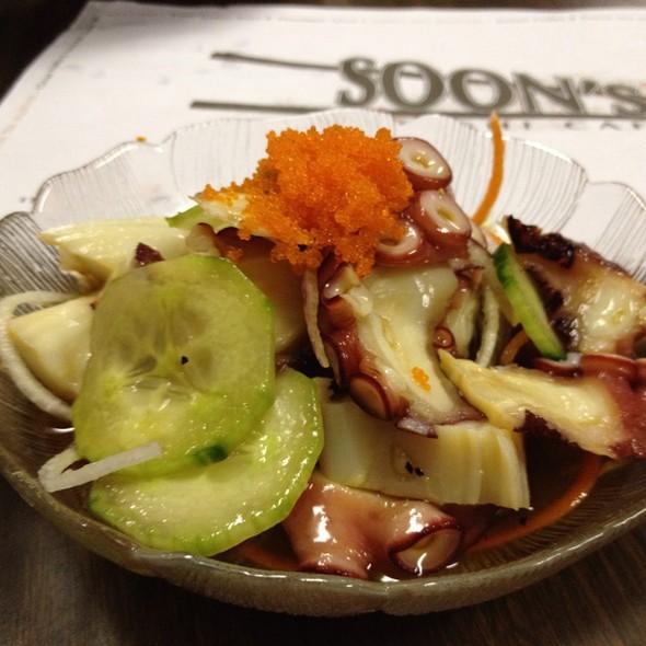 Braised octopus salad