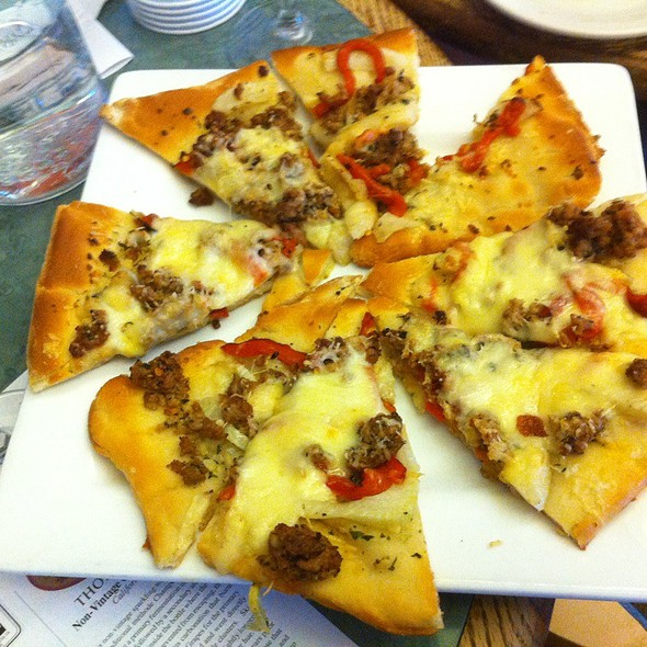 Sausage Flat Bread Pizza @ Thornton Winery