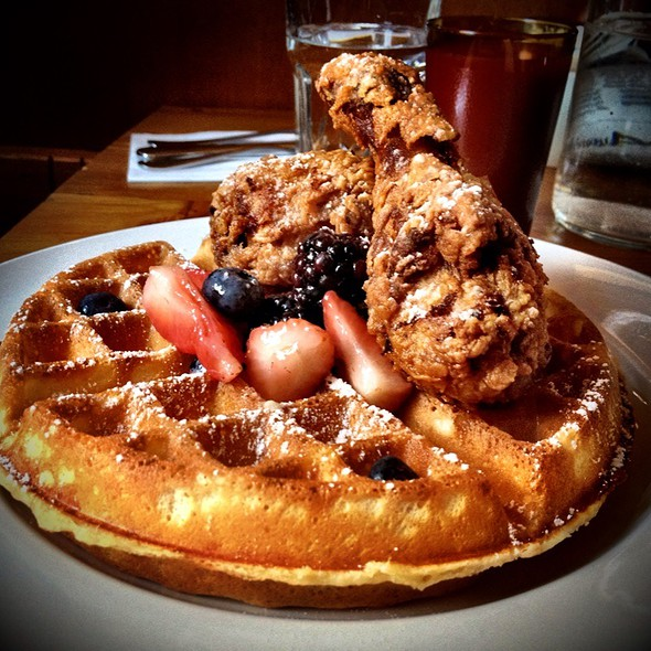 Fried Chicken and Waffles @ Good Fork