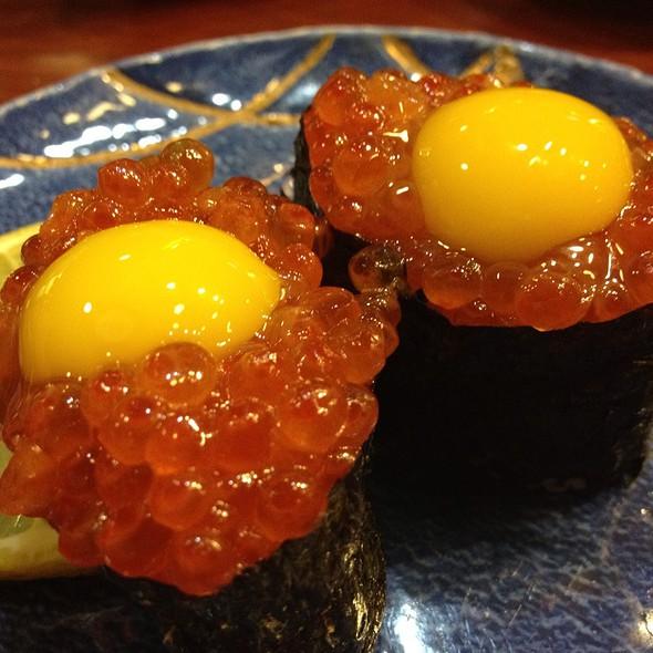 Salmon Roe With Quail Egg @ Tokyo Japanese Restuarant