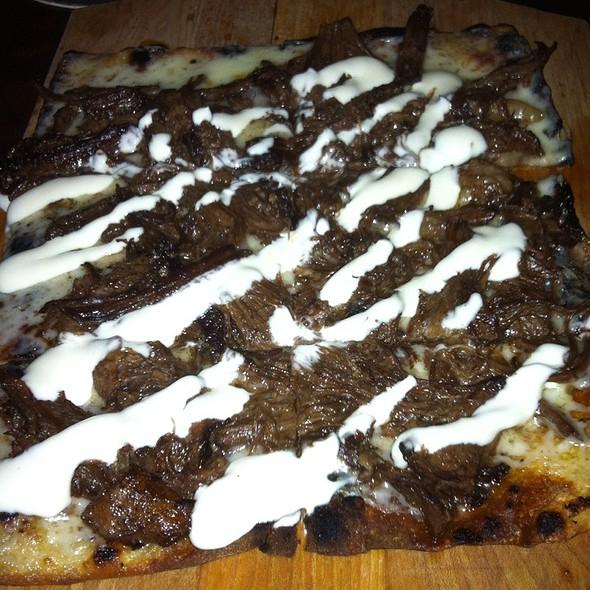 Short Rib Flatbread With Cheddar And Horseradish Cream - Devil's Den, Philadelphia, PA