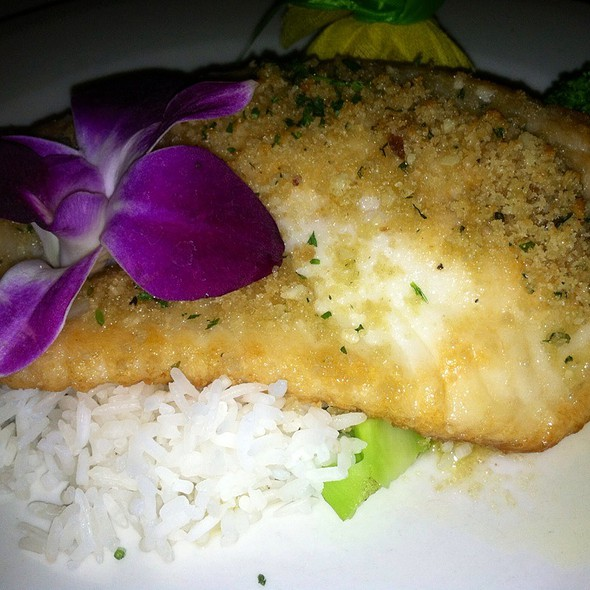 Parmesan Crusted Tilapia Oreganata @ Edward's Steakhouse